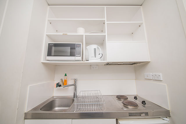 Columbia Student Accommodation : Kitchenette.